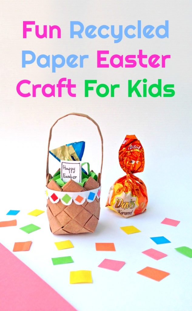 This Fun Recycled Paper Easter Craft For Kids is a great way to keep the littles busy or is an ideal activity for a rainy day.