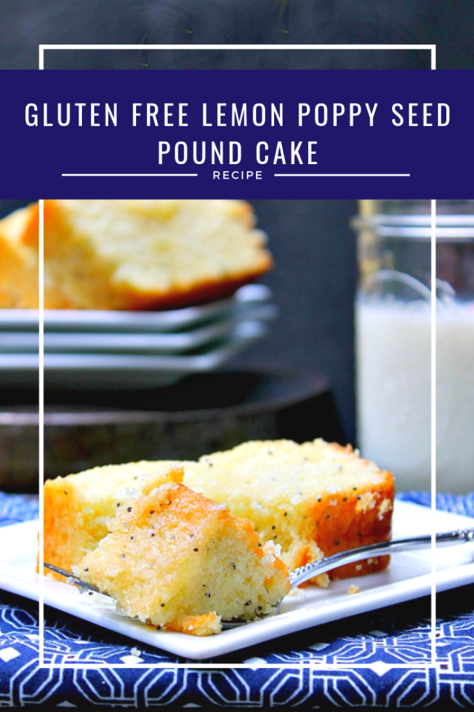 If you love a rich and decadent pound cake but have gluten issues, this Gluten Free Lemon Poppy Seed Pound Cake Recipe is perfect for you!