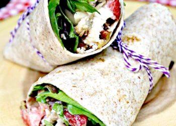 Healthy Strawberry Chicken Salad Sandwich Wraps Recipe salad