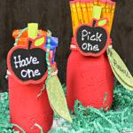 Mason Jar Apple Pencil Holder Teacher Gifts