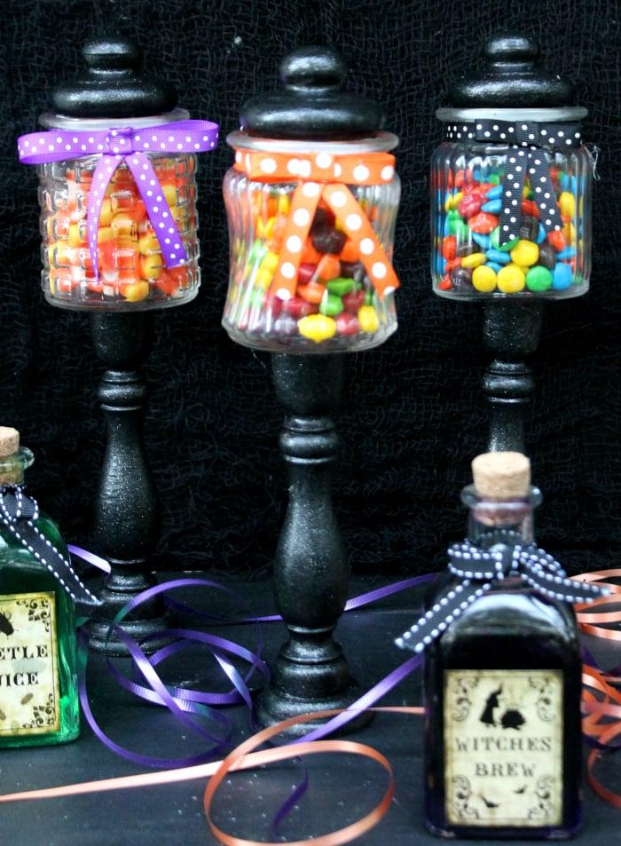Easy DIY Halloween Candy Jar Craft 2
