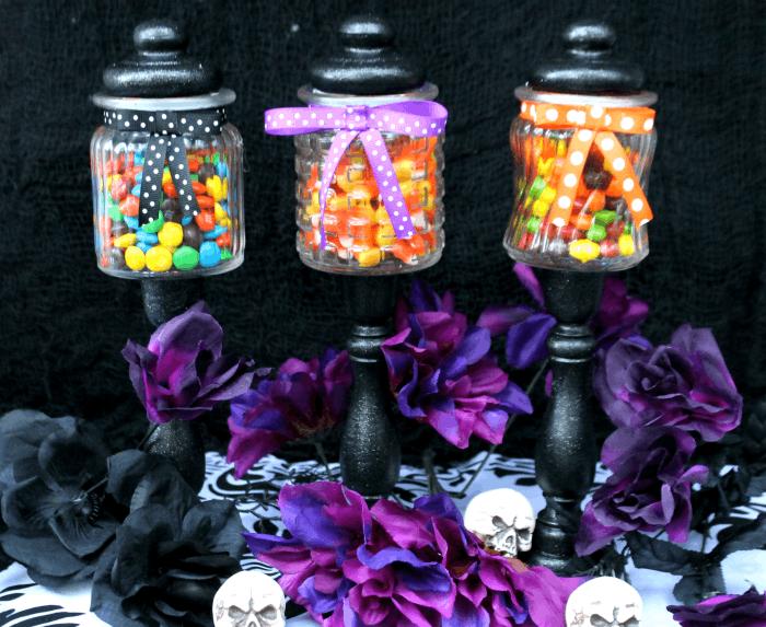 Easy DIY Halloween Candy Jar Craft candy