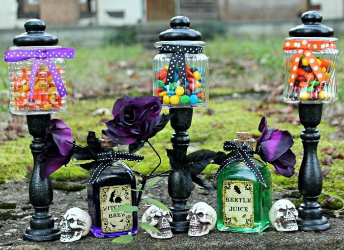 Easy $3 DIY Halloween Candy Jar Craft