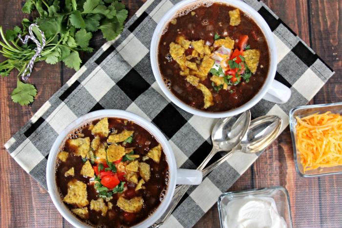 Loaded Vegan Black Bean Soup Recipe 4