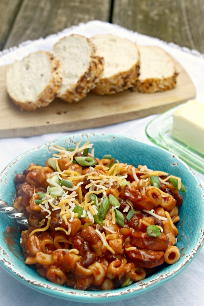 Spicy Crock Pot Sausage, Bean And Pasta Soup 2