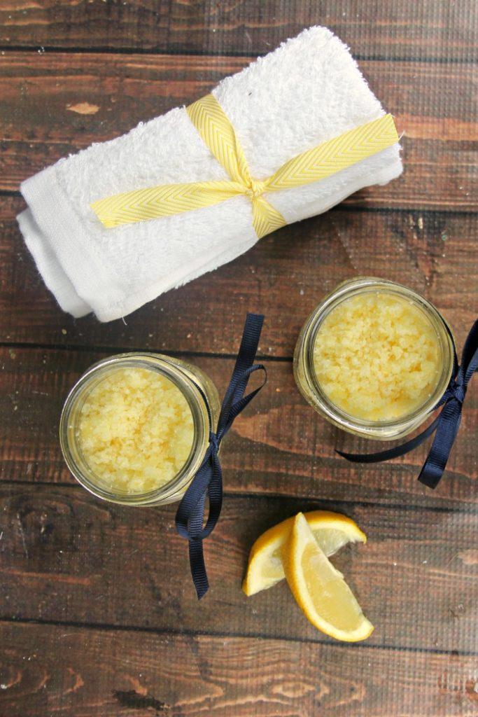 DIY Essential Oil Lemon Sugar Body Scrub 3