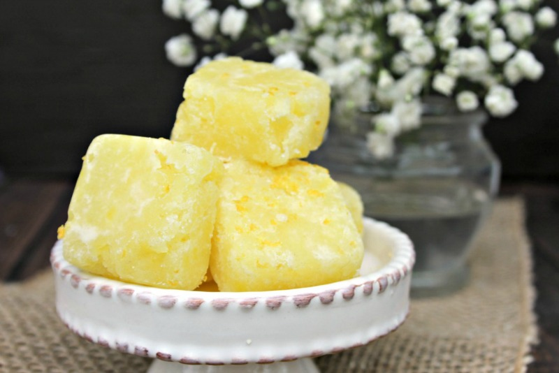 Lemon Sugar Body Scrub Cubes Recipe