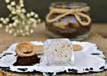 Super Easy Hazelnut Coffee Lip Scrub Recipe
