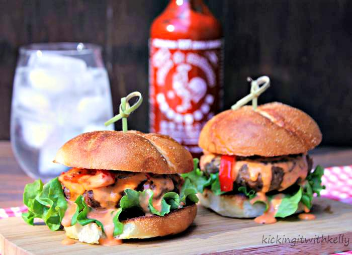 Spicy Game Day Turkey Sliders With Garlic Sriracha Aioli 2
