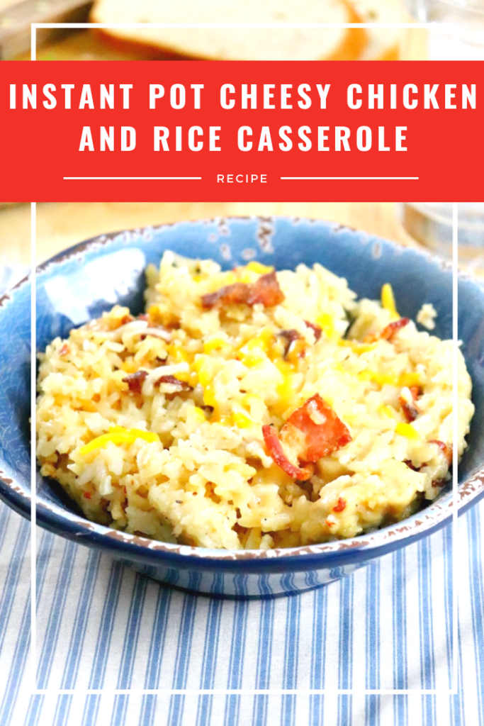 One of my kids favorite meals is my Instant Pot Cheesy Chicken and Rice Casserole. Its delicious, easy, and filling. Oh, and really cheesy!
