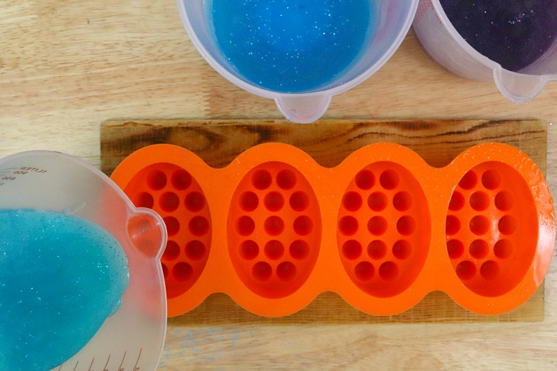 Layered Mermaid Soap Tutorial Step 5