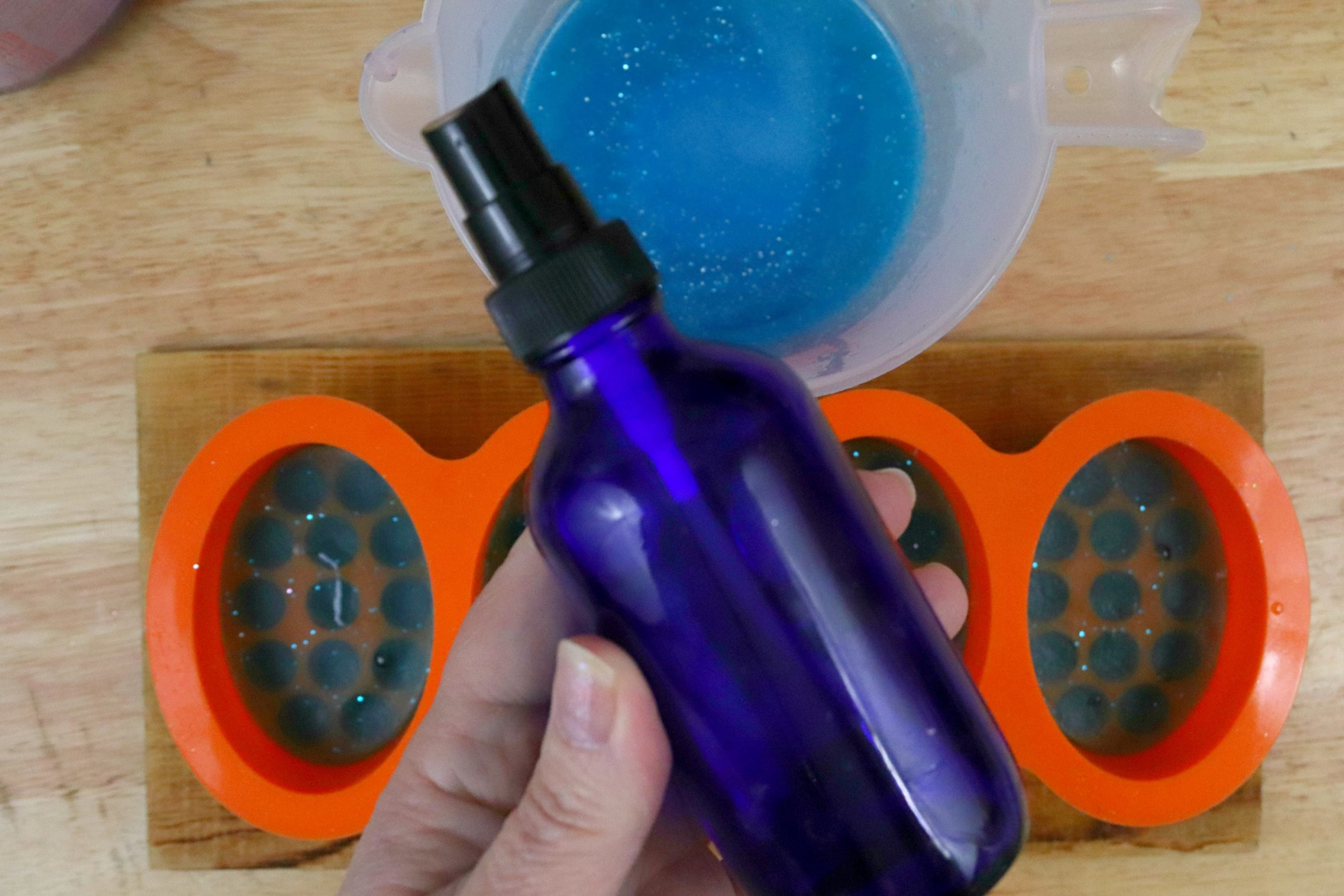 Layered Mermaid Soap Tutorial Step 6