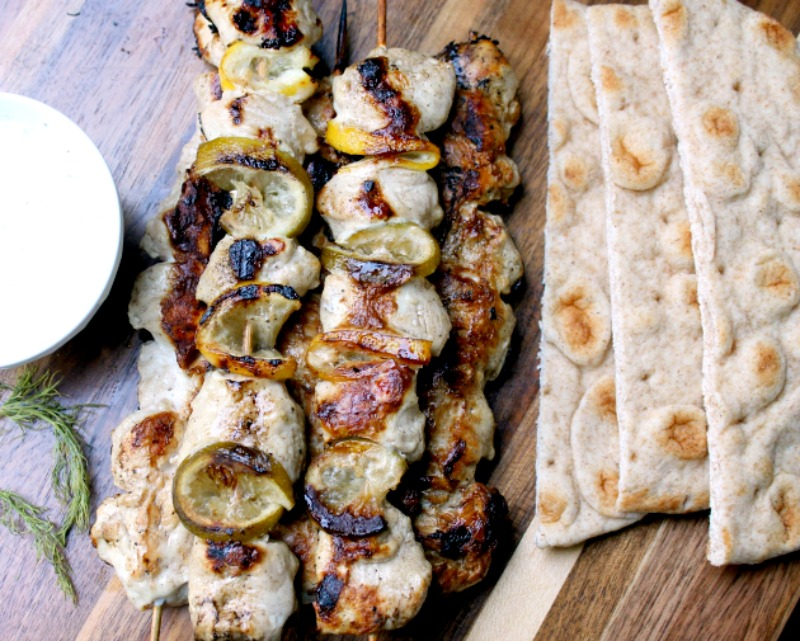 Citrus Chicken Gyro Recipe With Homemade Tzatziki Sauce