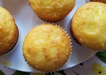 Lemon Pudding Poke Cake Cupcakes Recipe Step 5