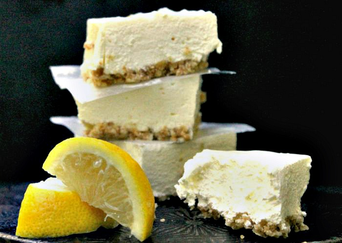 no bake lemon cheesecake bars recipe with a nilla wafer crust