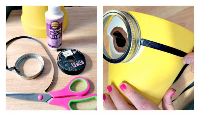 DIY Minion Flower Planter step five