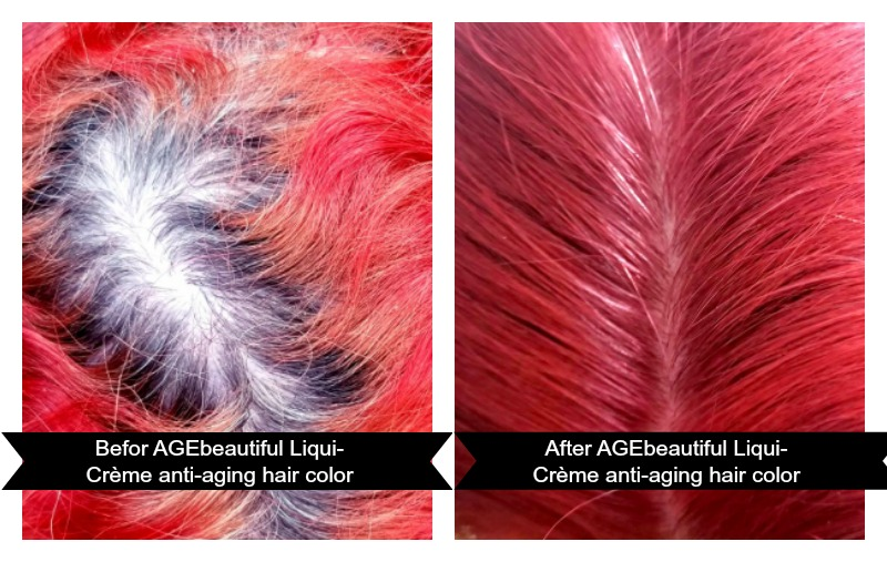 This Anti-Aging Hair Color Can Transformed Your Hair before and after