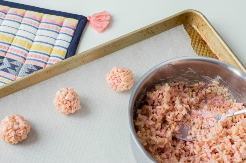 Easy To Make Pink Cereal Treats Recipe Step 3