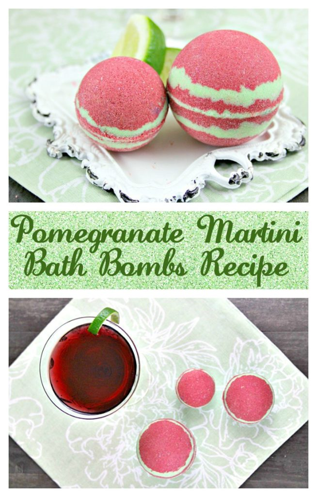 There is nothing better to forget the stress of your day than relaxing in the bath with your favorite cocktail and a Pomegranate Martini Bath Bomb