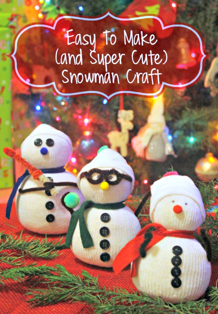 If you are at home with the kids this winter and they say they have nothing to do, try making this easy and super cute Winter Boredom Buster Snowman Craft!