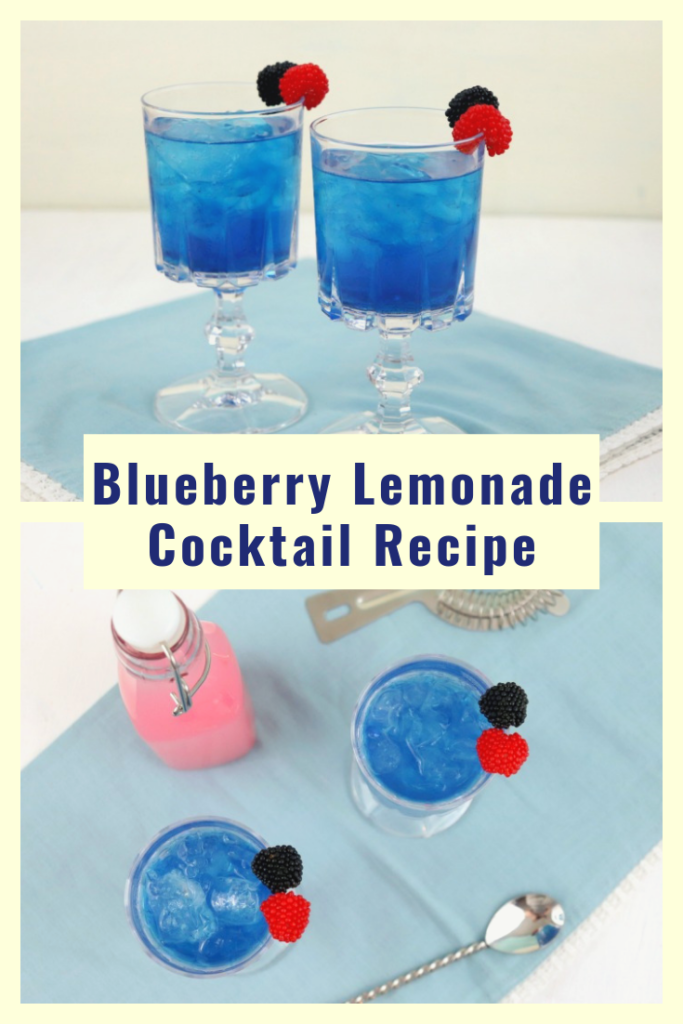 Beat the heat this summer with this Very Blueberry Lemonade Cocktail Recipe. This refreshing blue drink might become one of your go to recipes for summer entertaining!