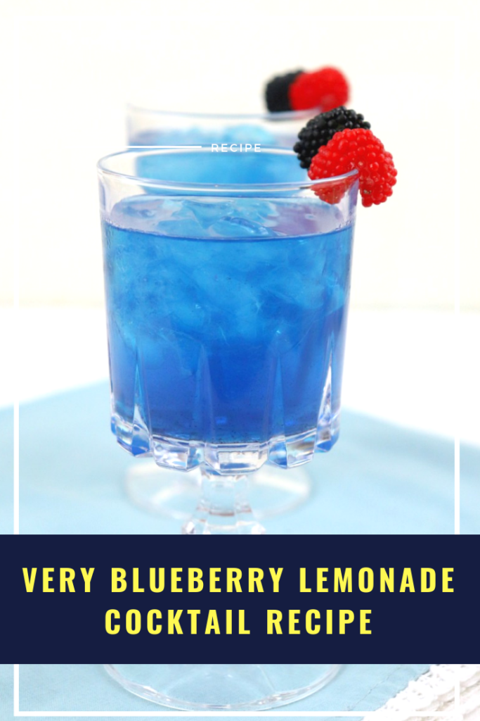 This Very Blueberry Lemonade Cocktail Recipe is the ultimate way to beat the heat this summer. Made with fun ingredients to create a very blue drink, this might become one of your go to recipes for summer entertaining!
