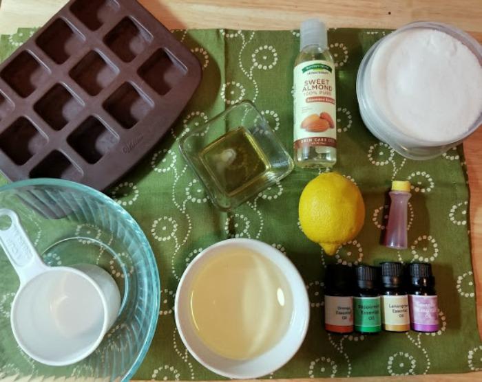 Body Scrub Recipe supplies