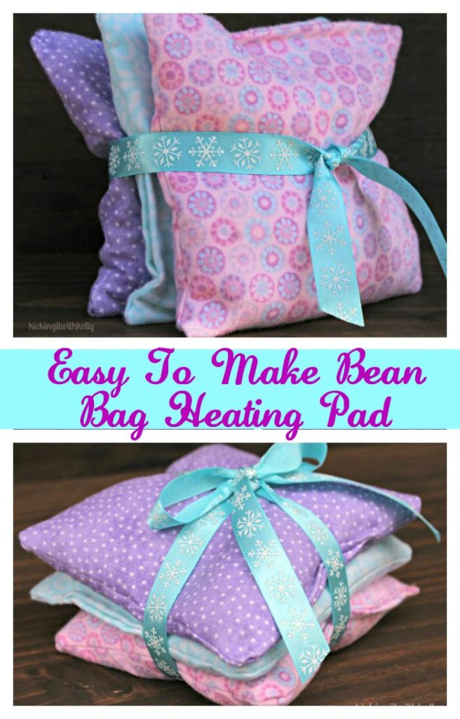 How To Make A Homemade Bean Bag Heating Pad Kicking It With Kelly