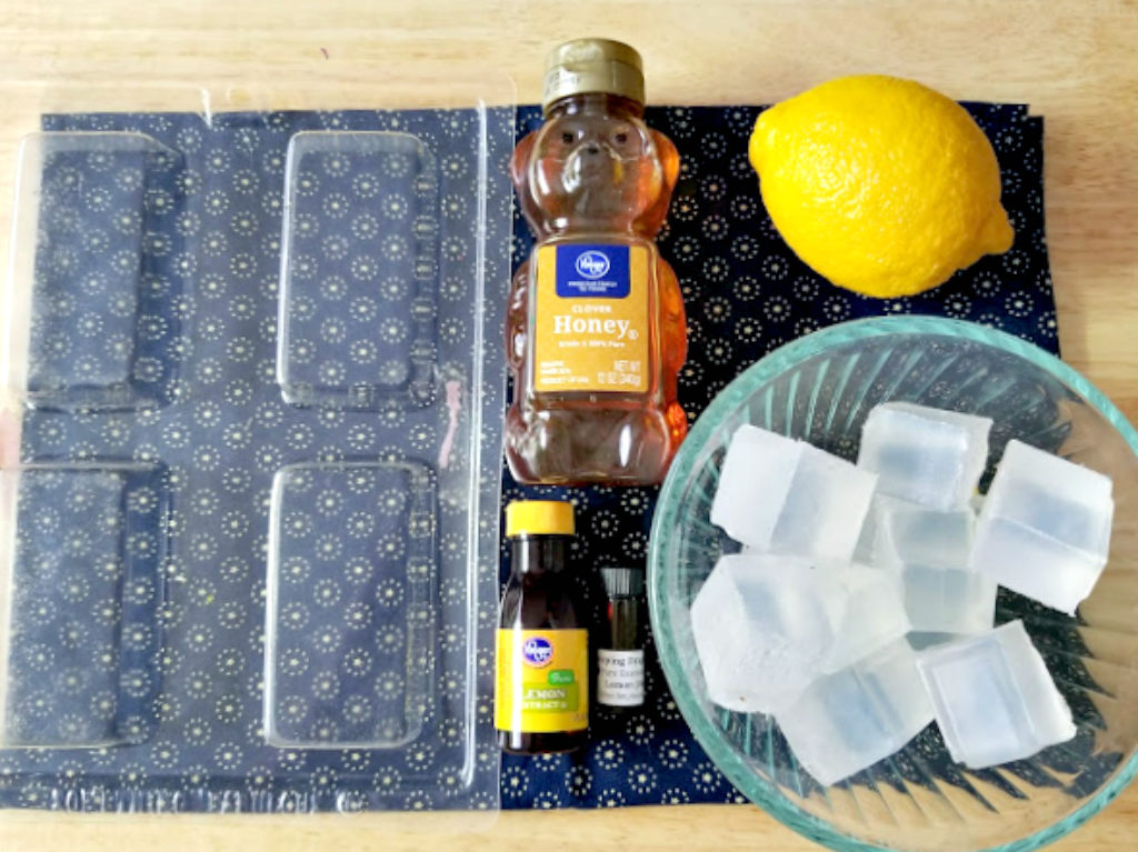 DIY Honey And Lemon Essential Oil Soaps supplies